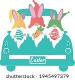 easter truck svg vector... | Shutterstock .eps vector #1945497379