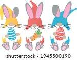 easter gnomes svg vector... | Shutterstock .eps vector #1945500190