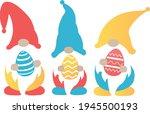 easter gnomes svg vector... | Shutterstock .eps vector #1945500193