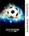 vector abstract soccer ball... | Shutterstock .eps vector #194551376