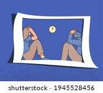 bad relationship. psychological ... | Shutterstock .eps vector #1945528456