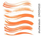 abstract strokes long thick... | Shutterstock .eps vector #194554310