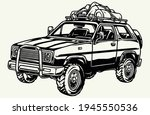 camping car with tourist... | Shutterstock .eps vector #1945550536