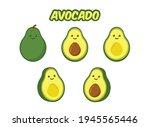 cute cartoon avocado  avocado...   Shutterstock .eps vector #1945565446