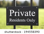 closeup of private residents... | Shutterstock . vector #194558390