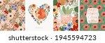mothers day. vector watercolor... | Shutterstock .eps vector #1945594723