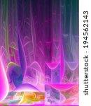 pink fractal lines  digital... | Shutterstock . vector #194562143