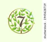 number seven logo made of... | Shutterstock .eps vector #1945628719
