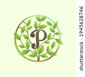 p letter logo made of twisted... | Shutterstock .eps vector #1945628746