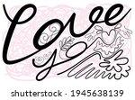 hand lettering design  love you ...   Shutterstock .eps vector #1945638139