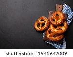 Fresh baked homemade pretzel...