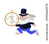 rabbit from alice in wonderland ... | Shutterstock .eps vector #1945644970