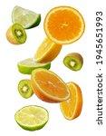 Falling Fresh Mixed Citruses....
