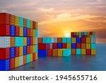 Container Cargo Ship Export...