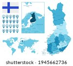 finland detailed administrative ...   Shutterstock .eps vector #1945662736