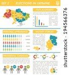 vector election infographics in ... | Shutterstock .eps vector #194566376