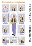 dementia signs and symptoms... | Shutterstock .eps vector #1945670866