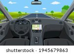 view of the road from the car... | Shutterstock .eps vector #1945679863