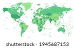 world map. highly detailed map... | Shutterstock .eps vector #1945687153