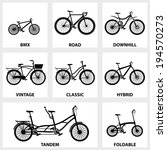 vector black icon set bike on... | Shutterstock .eps vector #194570273