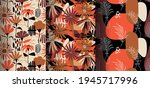 seamless pattern with abstract...   Shutterstock .eps vector #1945717996