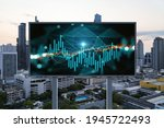 glowing forex graph hologram on ...