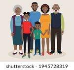 african american family. mom... | Shutterstock .eps vector #1945728319