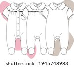 baby one piece clothing. baby... | Shutterstock .eps vector #1945748983