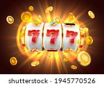 golden slot machine wins the... | Shutterstock .eps vector #1945770526