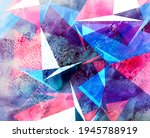 abstract geometric watercolor... | Shutterstock . vector #1945788919