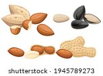 set of snacks nut almond and...   Shutterstock .eps vector #1945789273