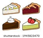 cartoon pie slices set. set of...   Shutterstock .eps vector #1945823470