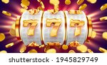 golden slot machine wins the... | Shutterstock .eps vector #1945829749
