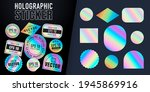 holographic stickers. hologram... | Shutterstock .eps vector #1945869916