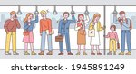 passengers in the subway are...   Shutterstock .eps vector #1945891249