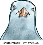 vector illustration of angry... | Shutterstock .eps vector #1945906633