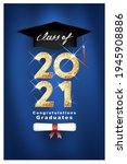 vector text for graduation gold ...   Shutterstock .eps vector #1945908886