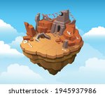 isometric ruined temple... | Shutterstock .eps vector #1945937986