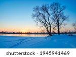 Winter Nature River Dawn...