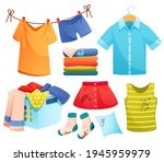 clean and dirty clothes ... | Shutterstock .eps vector #1945959979