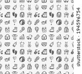seamless doodle baby pattern | Shutterstock .eps vector #194596754
