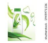 aloe vera shampoo creative... | Shutterstock .eps vector #1945971136