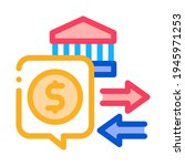 Fiscal Policy Color Icon Vector....