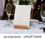 mockup white blank space card ... | Shutterstock . vector #1945972009