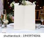 mockup white blank space card ... | Shutterstock . vector #1945974046