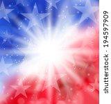 illustration happy 4th of july... | Shutterstock .eps vector #194597909