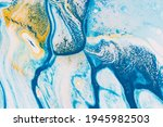 gold and blue marble texture... | Shutterstock . vector #1945982503