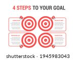 4 steps to your goal concept ...   Shutterstock .eps vector #1945983043