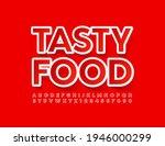 vector red banner tasty food.... | Shutterstock .eps vector #1946000299