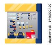 hardware shop interior design... | Shutterstock .eps vector #1946002420